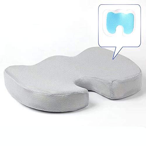 ZXMDP Memory Foam Orthopedisch zitkussen voor pijn in de onderrug en Sciatica Tailbone Pain Relief Fit voor bureaustoel kussen Autostoel Rolstoel