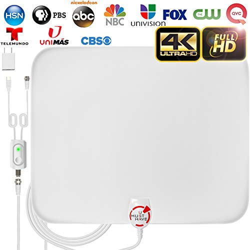 [LATEST 2020] Amplified HD Digital TV Antenna Long 120 Miles...