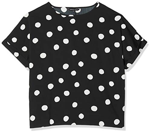 Simply Be Damen Ladies Drop Sleeve Top with Curved Hem Bluse, Mehrfarbig (Mono Spot 001), 50