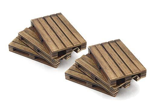 HostelNovo Mini-Palette aus Holz, speziell gealtert, ideal für Dekoration und Untersetzer