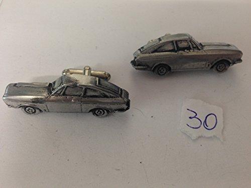 Bond Equipe 2 l (berline 3D Boutons de manchette Homme-Classique-Bouton de manchette en ref30 effet étain