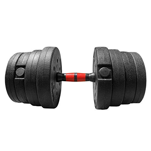 mymixtrendz 30kg Adjustable Dumbbell Set Hand Weight with Solid Dumbbell Handles Fitness Weight Perfect for Bodybuilding Lifting Training Home Gym (30)