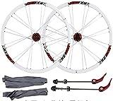 Ruedas Juego de ruedas de bicicleta, ruedas de bicicleta de 26 pulgadas de doble pared ultra ligera aleación de aleación de aleación de aleación de aleación de aluminio rápido bicicleta de montaña rue