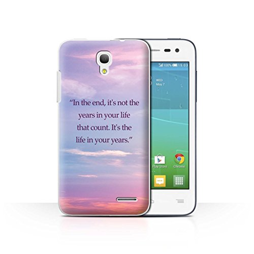 Stuff4 Var voor ALC-CC Vivid Ombre Alcatel OneTouch Pop S3 Abraham Lincoln Quote