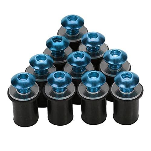 Kit de tornillos de perno de parabrisas de parabrisas de motocicleta de 10 piezas de 5 mm / 0,20 pulgadas blue