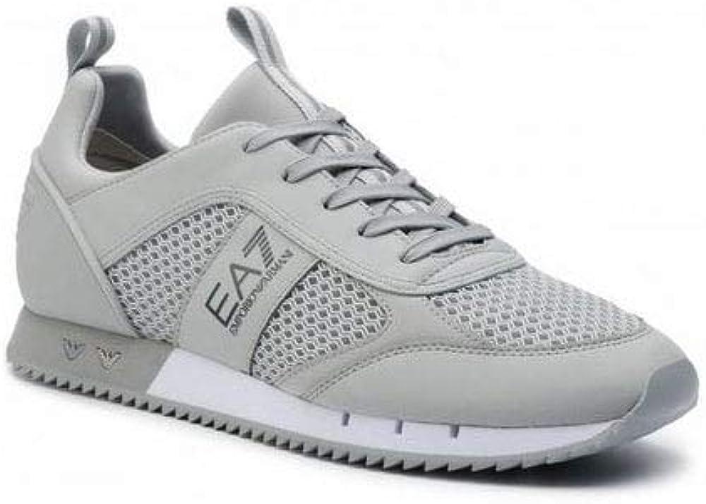 Ea7 emporio armani,scarpe sneakers per uomo,in mesh tecnico e poliuretano X8X027XK050
