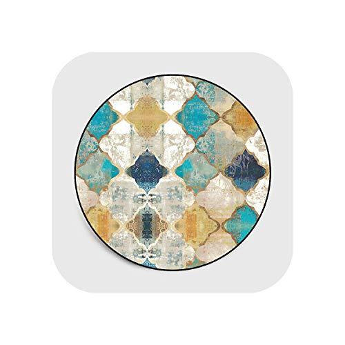Star Harbor Shapers Map Rugs Nursery  Marokko Bunte geometrisch Bedruckte runde Teppich Vintage Wohnzimmer Teppich Teppiche Schlafzimmer Matte Couchtisch rutschfeste Bodenmatte Durchmesser 120cm