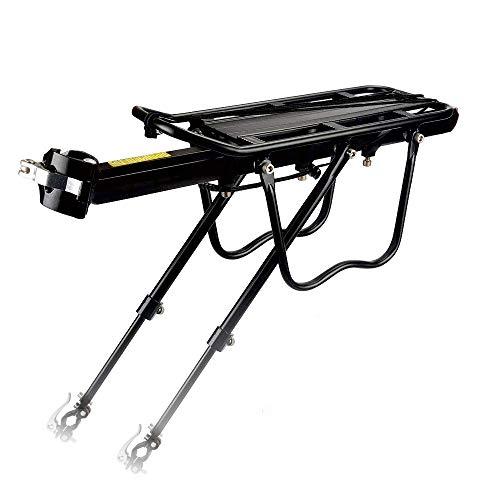GANZTON Portaequipajes ajustable para bicicleta de montaña, aleación de aluminio, con reflector, carga máxima de 25 kg, montaje rápido GT-100R