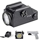 T6 GT2R Rechargeable Handgun Flashlight 600 lumens Military Tactical Rail Mounted Glock Pistol Torch Light with USB Charger for Glock and MIL-STD-1913 Rail