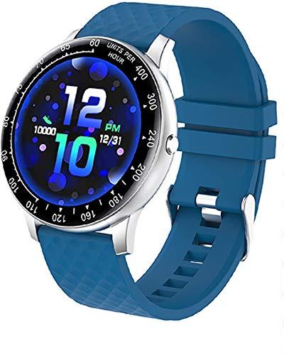 JIAJBG el Reloj de Manera Inteligente, Rastreador de Ejercicios Watch Y la Presión Arterial Del Ritmo Cardíaco Pulsera Smart Monitor Ip68 a Prueba de Agua Bluetooth Smartwatch Depor
