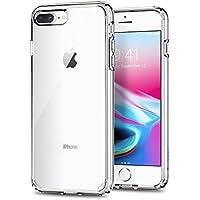 Spigen Funda iPhone 7 Plus/8 Plus, Ultra Hybrid 2 Tecnología de amortiguación de Aire y protección híbrida contra caídas - Transparent