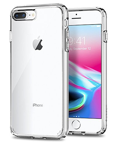 Spigen Cover Ultra Hybrid 2 Compatibile con iPhone 8 Plus Compatibile con iPhone 7 Plus - Crystal Clear
