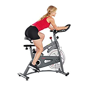 Sunny Health & Fitness Endurance Magnetic Belt Drive Indoor Cycling Exercise Bike