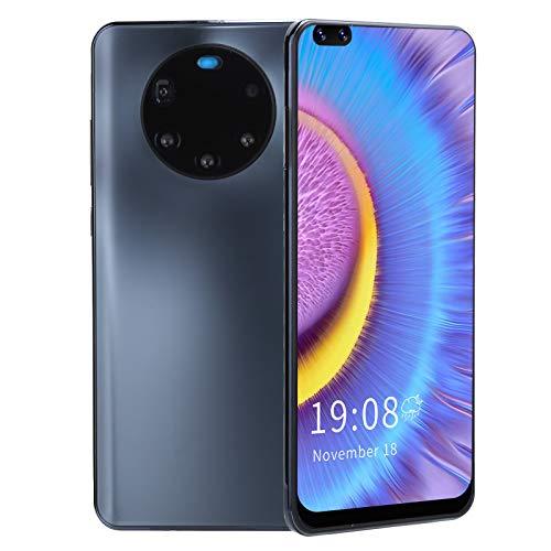 Smartphone, Mate50 Pro + 6.82in Pantalla Completa 16GB + 2GB 5MP Cámara HD Tarjetas SIM Dobles Teléfono Celular para Android, Desbloqueo de Huellas Dactilares en la Cara Teléfono móvil(Negro)