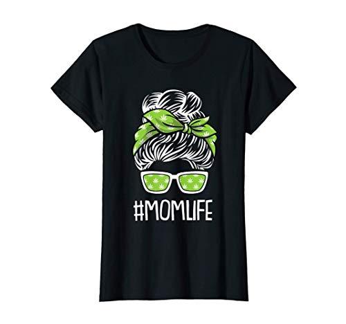 Mujer Mamá-Vida Día De La Madre Hierba Marihuana Cannabis Pot-Head Camiseta