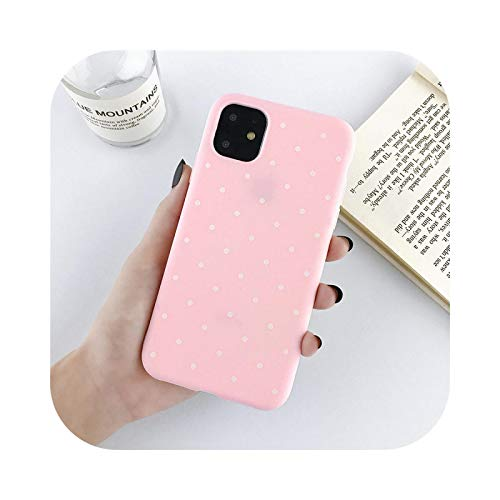 Funda de silicona para teléfono iPhone 11 Pro X XR XS Max 8 7 6 6s Plus 5 5s SE 2020 Candy Color Dots Soft TPU Cover P-For 6Plus o 6s Plus