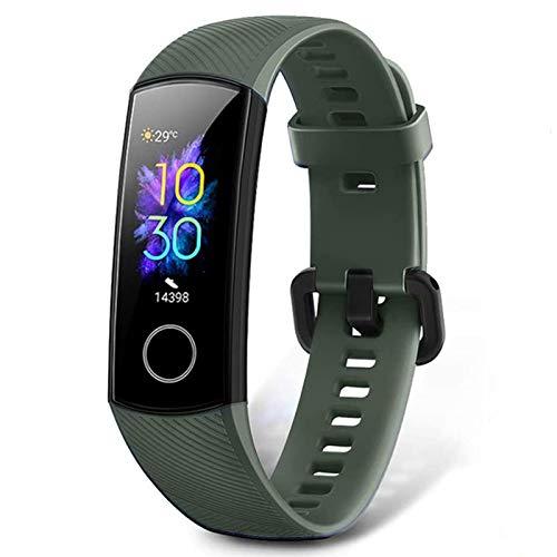 HONOR Band 5 Activity Tracker, Uomo Donna Smartwatch Orologio Fitness Cardiofrequenzimetro da Polso Impermeabile Smart Watch 0.95 Pollice Schermo a Colori,Verde