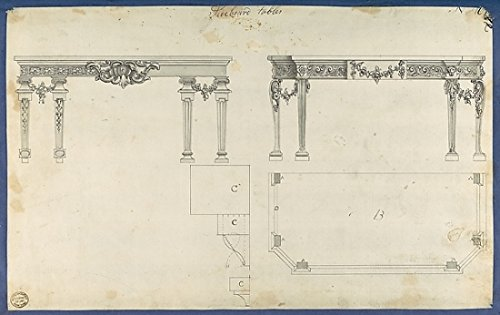 The Poster Corp Thomas Chippendale – Sideboard Tables from Chippendale Drawings Vol. II Kunstdruck (45,72 x 60,96 cm)