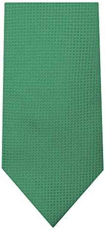 Jacob Alexander Boys Prep Woven Subtle Mini Squares Regular Neck Tie Dark Kelly Green product image