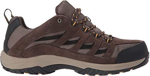 Columbia Men's Crestwood Waterproof Hiking Boot, Mud, Squash, 10 Regular US