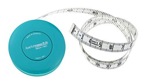 hoechstmass Balzer rollfix måttband 150 cm/60 tum, ABS, turkos, 5 cm