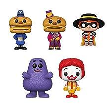 Funko Pop! Set of 5 - McDonalds - Ronald McDonald, Grimace, Hamburglar, Mayor McCheese and Officer Big Mac