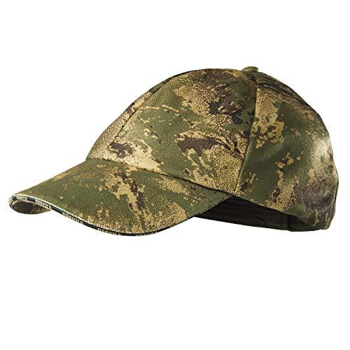 Härkila Lynx Cap AXIS MSP® Forest Green Jagdkappe mit Bruchschlaufe rechts - Ansitzkappe Jagdkappe Tarnkappe - Camo Cap mit Klettverschluss für Jäger