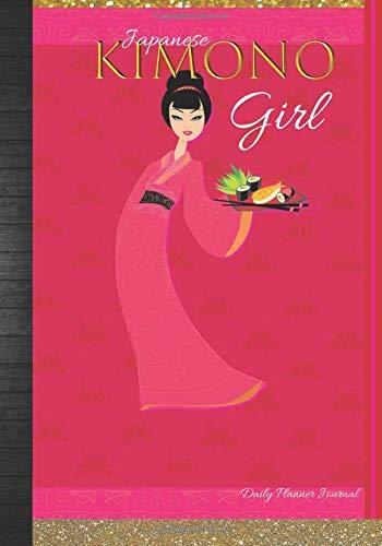 Japanese Kimono Girl Daily Planner Journal: Cute Asian Women July 2019 - December 2020 Calendar Agenda Organizer Notebook To Write In