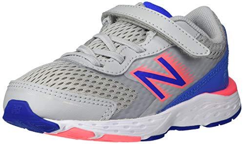 New Balance Kid's 680 V6 Alternative Closure Running Shoe, Light Aluminum, 2 W US -Infant
