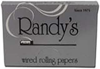 Randy's Classic Silver All Natural Cigarette Rolling Papers With Wire