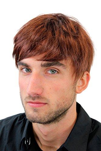 Perruque pour homme, courte et décontracté, style jeune, à la mode, de couleur auburn GFW933-33 Men Wig