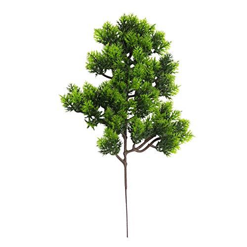Techting Künstliche Kiefer Zweig Simulation Nadel Blätter Zweig Home Office künstlicher Baumzweig Gefälschte Pflanzendekor, Hellgrün