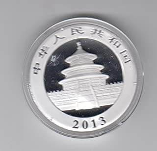 2013 CN China Panda Silver 1 Ounce Coin- Encased in Mint Plastic Capsull Silver Choice Uncirculated