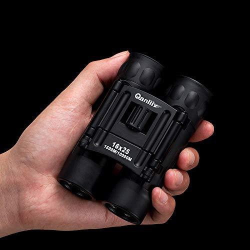 kashyk 16x25 Kompakt Mini Zoom Fernglas Nachtsicht kraftvolles, leichtes und klein feldstecher für Erwachsene, Kinder, Safari, Zoom und Astronomie