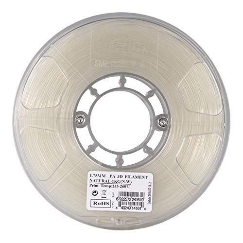 PA Nylon Filament 1.75mm/2.85mm, Pure Nylon, 3D Printer Material, High Toughness and Wear Resistance, 1kg Sspool-1.75mm
