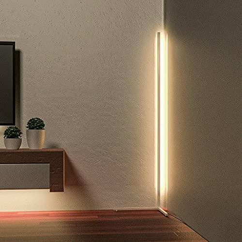 Niono- Modern Nordic Style Colour RGB Minimalist Corner Floor Lamp LED Corner Floor Lamp Black Mood Lighting RGB Lamp (White)
