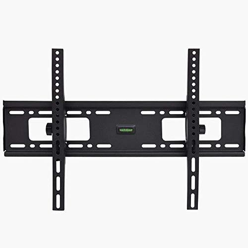Soporte de pared para televisión de acero inoxidable para la mayoría de televisores planos curvos de 26 a 55 pulgadas, soporte para monitor con almacenamiento de hasta 40 kg de altura inclinable ajust