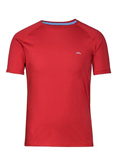 Jeff Green Herren Atmungsaktives Kurzarm Funktions T-Shirt Rivara, Größe - Herren:XXXL, Farbe:Cranberry