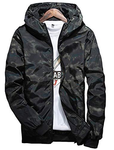 Adelina jack heren met capuchon camouflage herfst jongens windbreaker rits hoodie loopjas windjack