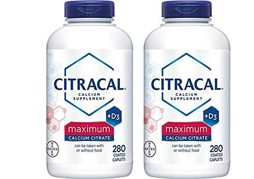 Citracal - Calcium Citrate with Vitamin D3 - 2 Bottles, 280 Caplets...