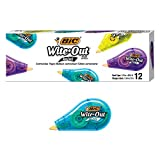 BIC Wite-Out Brand Mini Correction Tape, White, 12-Count