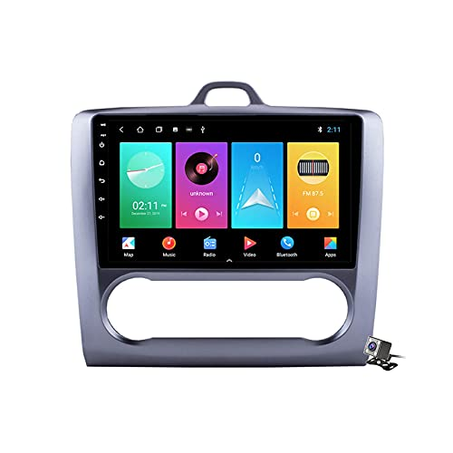 CIVDW 9 pulgadas pantalla Android 10 coche estéreo para Ford Focus 2 Mk2 2004-2011 Radio incorporado Carplay Android Soporte Bluetooth 5G WiFi FM AM Radio Dual USB Espejo Link Navegación GPS SWC
