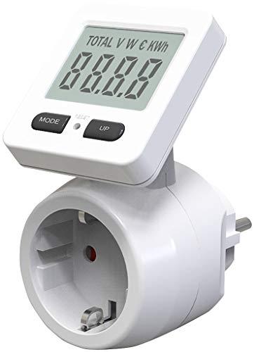 revolt Energiekostenmessgerät: 2er-Set Digitale Energiekostenmesser, 180° drehbares Display, 3.680 W (Energiezähler)