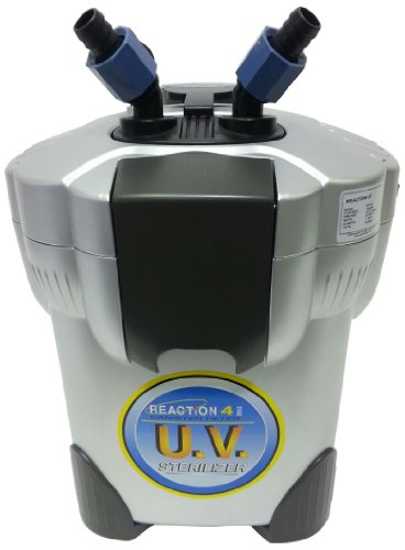 JBJ 4-Stage Reaction Canister Filter with UV Sterilizer for Aquarium, Filters Up to 100-Gallon
