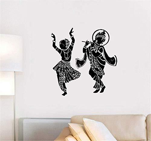 Wandtattoo Schlafzimmer Buddha Dance Tanzen indischen Hinduismus Götter Aufkleber Home Decor