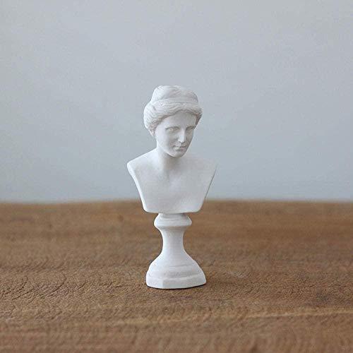 Estatua Escultura Decoración,Regalo Artesanal De Figuras Coleccionables Yeso De Imitación De Resina Retrato De Media Longitud Artículo De Muebles para El Hogar