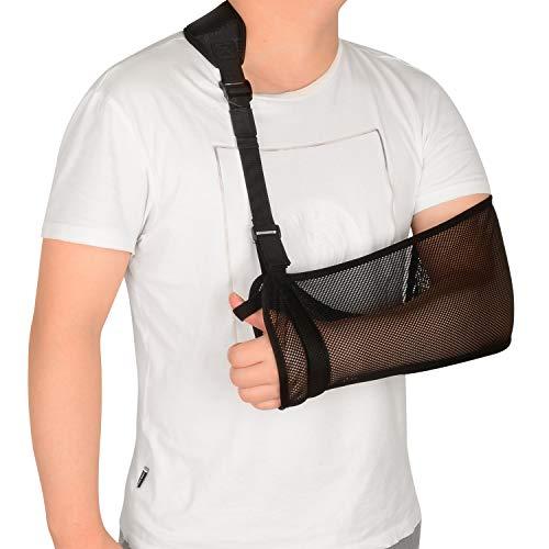 supregear Gittergewebe Armschlinge, Leicht Verstellbare Halsstützkragen Wegfahrsperre Einfache Armschlaufe Atmungsaktive Medizinische Schulterstütze für Verletzten Arm Ellbogen Handgelenk Hand