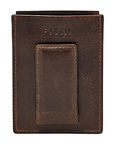 Fossil Herren Geldbörse Geldklammer Derrick Magnetic Card Case Braun ML3812-201