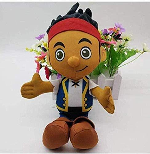 N/Z Cartoon Puppe Plüschtier Jake und die Nimmerland Piraten Kapitän Hook Jake Izzy Plüschtier Figur Gefüllte Puppen 29Cm