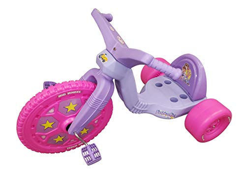 """The Original Big Wheel, Pink-Purple, Giant 16"""" Wheel Ride On Tricycle, 3 Position Seat - Trike Grows with Child, Kid Powered Pedal Bike, 50th Year, Sit Down Riding Around Outdoor Toy, Ages 3-8 (19060)"""